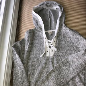 Adorable heather gray knit hoodie